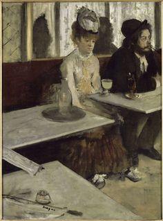 Edgar Degas (1834 – 1917), Dans un café dit aussi Labsinthe (Ellen Andrée et Marcellin Desboutin), entre 1875 et 1876 Huile sur toile, 92 x 68,5 cm, Paris, Musée d'Orsay Legs du comte Isaac de Camondo, 1911