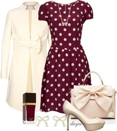 """Polka Dot Flippy Dress"" by elayne-forgie on Polyvore"