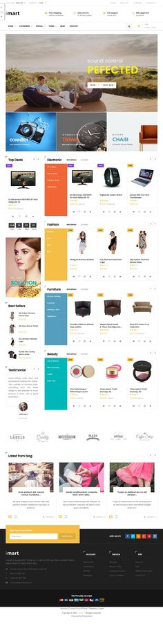 iMart is powerful #Prestashop theme for creative & professional design eCommerce #website. #tech Download Now!