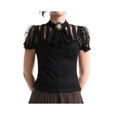 Victorian Inspired Ruffle Neck Shirt. Crazyinlove.