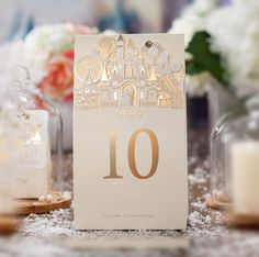 Festive & Party Supplies 5pcs Clear Diamond Crystal Name Number Table Place Card Holder For Wedding Party Holiday Venue Decoration New Arrival Event & Party