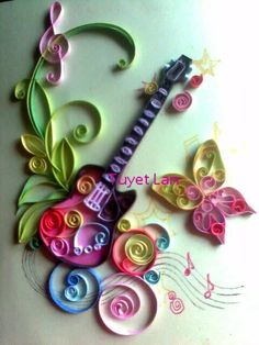 Quilled guitar