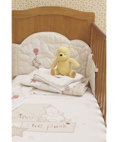 Classic Winnie the Pooh Bedding Collection aww not anytime soon but everyone knows my lover for the and older pooh bear Baby Bedroom, Nursery Bedding, Nursery Room, Baby Bedding, Winnie The Pooh Bedding, Winnie The Pooh Plush, Cot Bed Sheets, Nursery Inspiration, Nursery Ideas