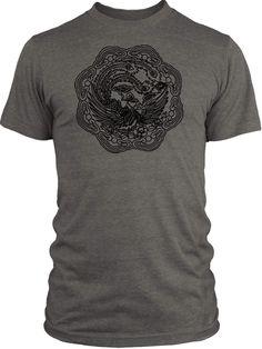 Big Texas Peacock (Black) Vintage Tri-Blend T-Shirt