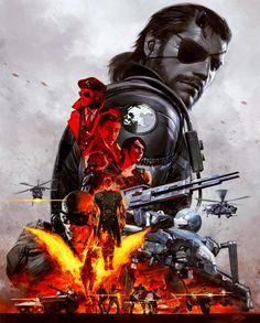 Póster Metal Gear Solid V The Phantom Pain #MGSV #MGSVTPP #NakedSnake #VenomSnake #PunishedSnake #ThePhantomPain #MetalGearSolid #BigBoss #DiamondDogs #RevolverOcelot #Shalashaska #Quiet #DDog #Dhorse #KazuhiraMiller #SkullFace #XOF