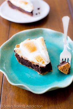 Homemade S'mores Brownie Pie by sallysbakingaddiction.com