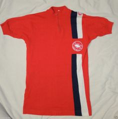 Vtg 1970's Castelli Cycling Jersey Wool Acrylic sz Small Scorpion Logo