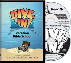 Dive In VBS CD - Northwestern Publishing House - Reach out to kids in your church and your community as you Dive In! to God's Word together! You'll help students discover amazing things about God's sea creatures and show them how these facts connect to key points in the Bible lessons.  This two-CD digital kit contains everything you need to successfully plan and implement a fun, rewarding VBS program.