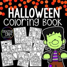 This 11-page coloring book includes a cover and 10 unique coloring pages. Use these pages for early finishers, indoor recess, Halloween parties, writing prompts and more!