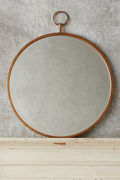 Want it in Silver!!!!! Hoop Mirror #anthropologie