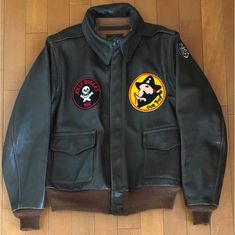 2008 The Real McCoy's 'Black Pirates' A-2 (Rough Wear 1401 P)