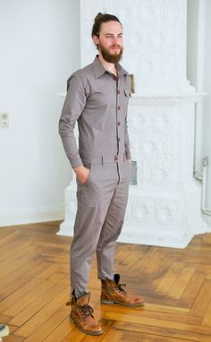 Mens Clothes – New Look Clothing Mens Fashion Jumpsuit, Fashion Jumpsuits, Jumpsuit For Men, Romper Men, Mode Man, Designer Jumpsuits, Moda Chic, Blue Jumpsuits, Herren Outfit