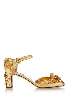 Embellished Gold Sandals by DOLCE & GABBANA Now Available on Moda Operandi