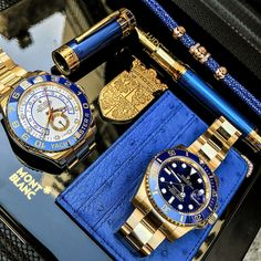 Yellow Gold on both  my pieces Yachtmaster  II and the Submariner! $27750 YM $23500 Sub . . . .