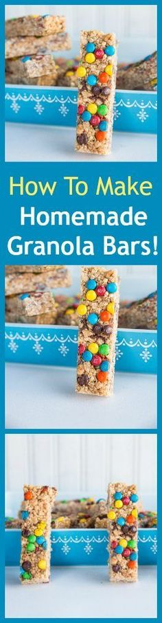 How to make amazing homemade granola bars with honey! Ten minutes and you have … How to make amazing homemade granola bars with honey! Ten minutes and you have more than a week's worth of school lunch snacks! From Karlynn Kids Lunch For School, School Snacks, Healthy School Lunches, Lunch Snacks, Healthy Snacks, Bag Lunches, Work Lunches, Snacks Kids, Yummy Snacks