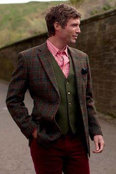 Harris Tweed Angus Tweed Jacket - Mens Jackets - Suits, Jackets & Waistcoats - Men - Brocklehursts of Bakewell