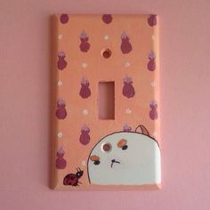 Puppycat Hand-painted Light Switch Plate