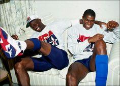 Michael & Magic. 1992 Olympics.