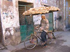 Bread delivery boy...