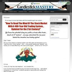 Updated For 2011! Hands Down, The Best Selling And Longest Running Course On Trading Stocks With Candlestick Charts In Cb! New Website With Members Area And Frequent Member Updates Makes Our Course Even More Attractive To Customers! Affiliate Tools! See more! : http://get-now.natantoday.com/lp.php?target=candlecrs