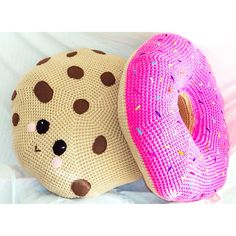 These hand crocheted 30 inch cute food pillows are perfect for the little ones during nap time.