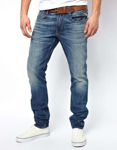 Replay Jeans Anbass Slim Fit Mid Wash