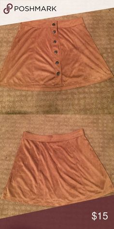 Skirt Brown button down skirt American Eagle Outfitters Skirts Mini