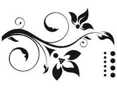 silhouette musique florale - Recherche Google