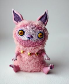 Pink Cat by chercheto on Etsy