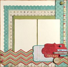 Forever Friends This layout was created with the My Minds Eye So Sophie collection. DaringDezinz Etsy shop by Tamara Jensen