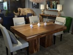 Cuisine and tables on pinterest for Table de cuisine en bois