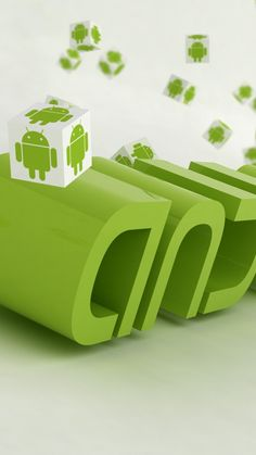 Android Robots Cubes Wallpaper for Mobile 720x1280