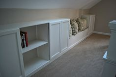 Adding Built-in Bookcase to Knee Wall for extra storage