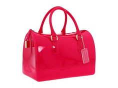 Furla Candy Bag Satchel Handbags - Dragon Fruit