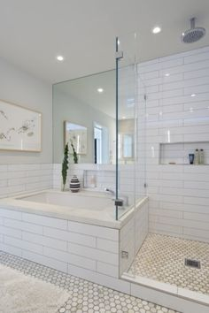 Beautiful subway tile bathroom remodel and renovation (25)