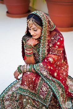 Inspiration: Beautiful Indian Bride -- #Indian #Wedding #Bride