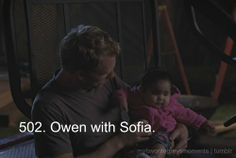 Grey's Anatomy - Owen With baby Sofia Greys Anatomy Owen, Greys Anatomy Facts, Grays Anatomy Tv, Grey Anatomy Quotes, Greys Anatomy Episodes, Cristina Yang, Medical Drama, Youre My Person, Laughing And Crying