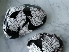 painted pebbles. Piedras pintadas- Nyheder - www.metteshobby.dk