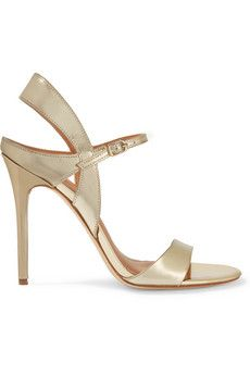 Halston Heritage Ainsley metallic leather sandals   THE OUTNET