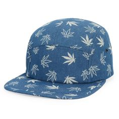 BLUE MAPLE PRINT SNAPBACK HAT
