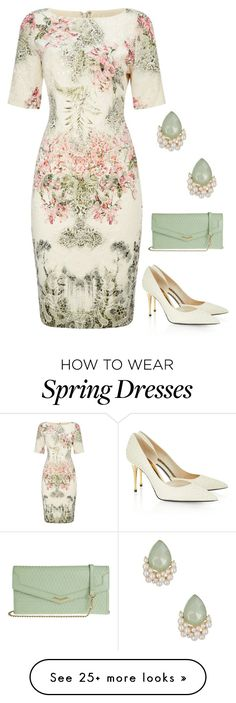 """Spring Floral"" by dazzling-dazed-dayz on Polyvore featuring Adrianna Papell, Tom Ford, Lodis and Natasha Accessories"