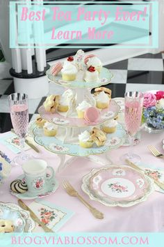 You don't want to miss our gorgeous Tea Party Ideas and decorations for the sweetest celebration!   #teapartyideas #teapartybridalshower #teapartybirthday
