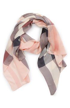 Burberry Check Print Silk Scarf   Nordstrom