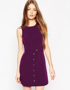 This colour is abso BEAUT! Such a simple dress with HUGE impact. Layer over a polo neck for the ultimate sixties look.