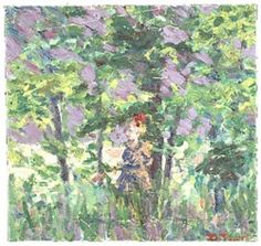 Girl in the woods, ca. 1930. David Park papers, Archives of American Art, Smithsonian Institution.