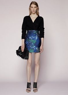 This bold Proenza Schouler skirt ($990) looks best paired with deep black. Try it with a tank now and a chunky knit come Fall.