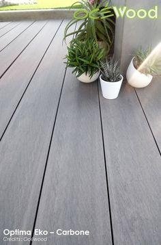 Lames de terrasse composite gris Carbone - Optima Eko par Ocewood Lame Composite, Outdoor Living, Composition, Plants, Decoration, Design, Gardens, Ideas, Sun