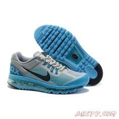 sale retailer 629ba 8855a Air Max Homme Nike Air Max 2013 Bleu Gris Vente Chaude Gold Basketball Shoes,  Cheap