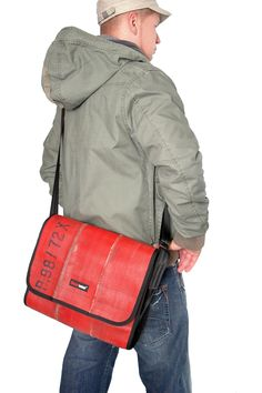 Feuerwear Messenger Bag (made out of re-purposed fire hose) - a man bag I might actually use, lol