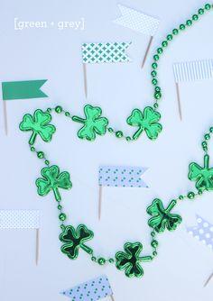 CAKE. | events + design: Go Irish | Green + Grey Printable Flags